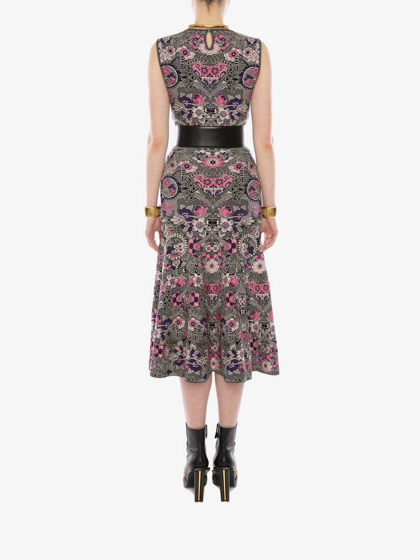 Display a large version of the product image 4 - Art Nouveau Jacquard Midi Dress
