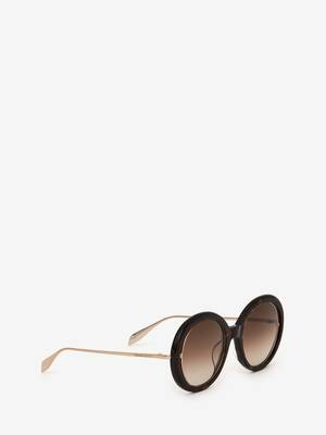 Open Wire Round Sunglasses