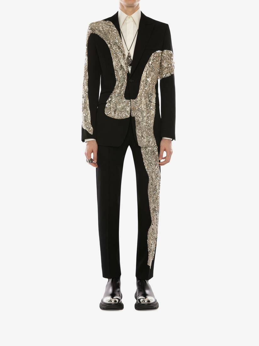 Display a large version of the product image 2 - Molten Metal Embroidered Cigarette Trousers
