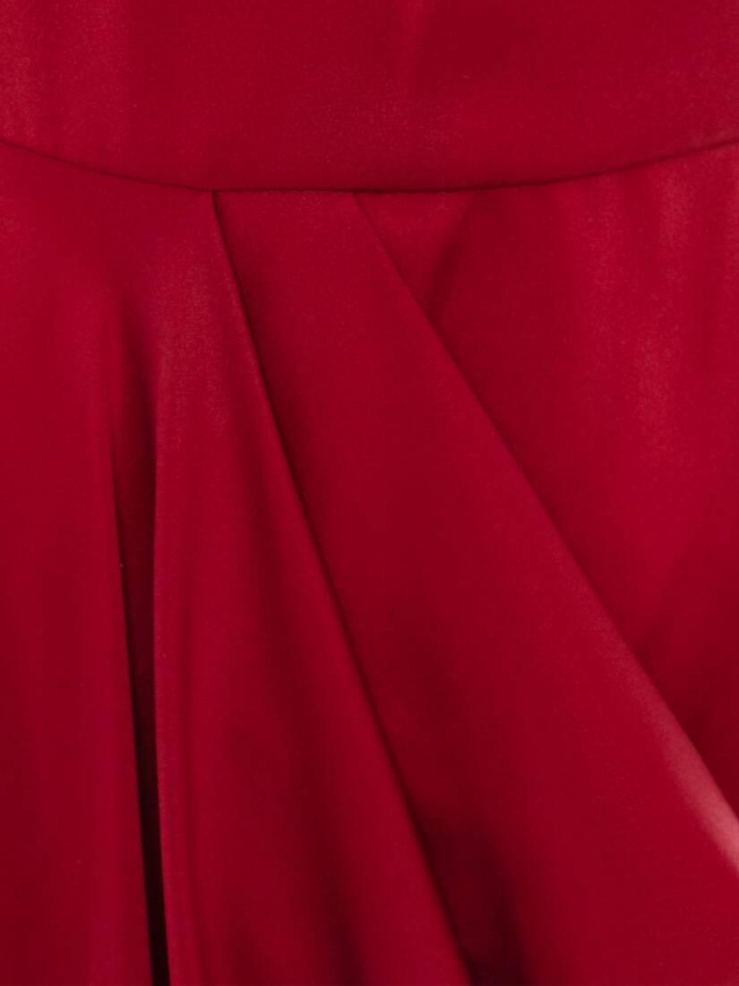 One-Sleeve Satin Evening Dress