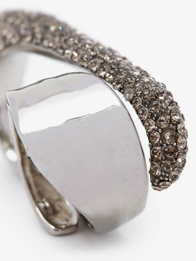 Pave Sculptural Double Ring