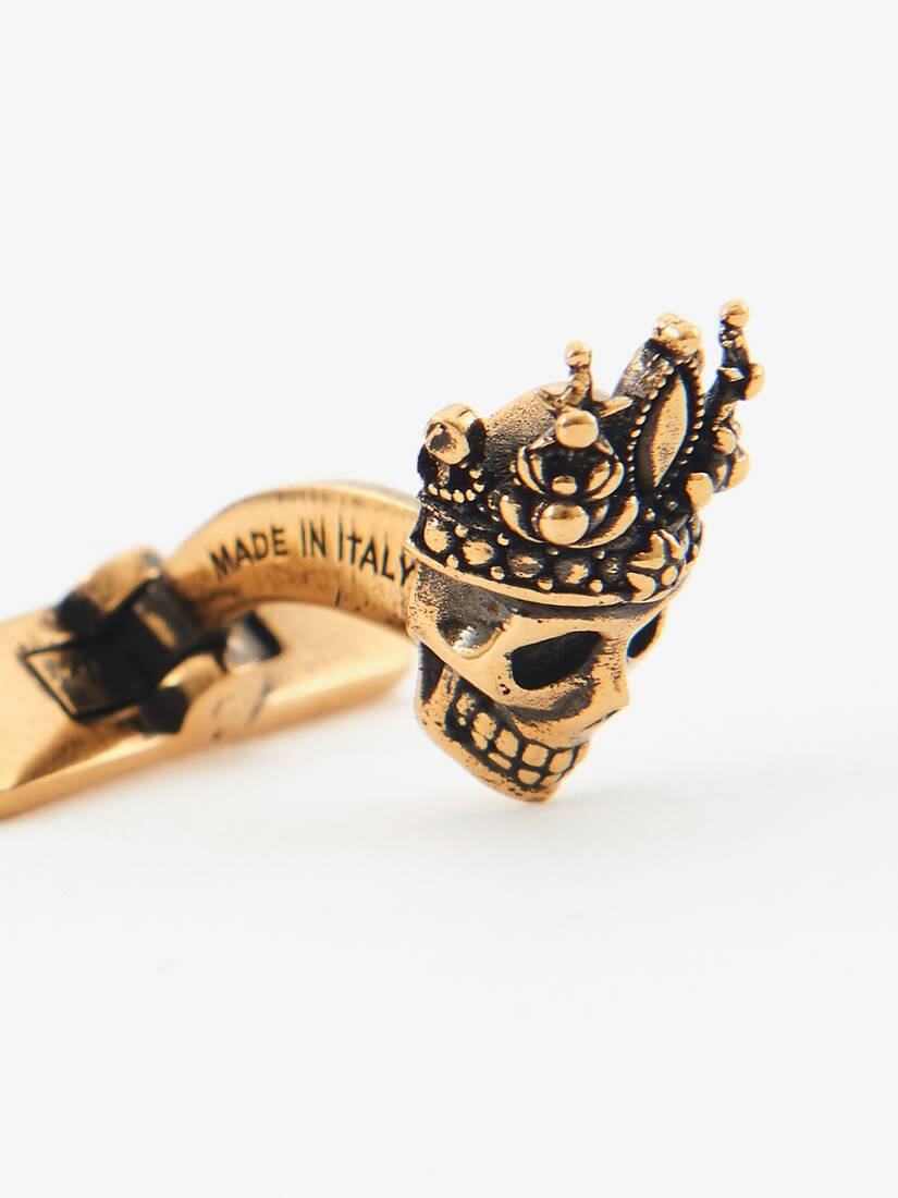 """Display a large version of the product image 3 - """"Queen and King"""" Skull Cufflinks"""