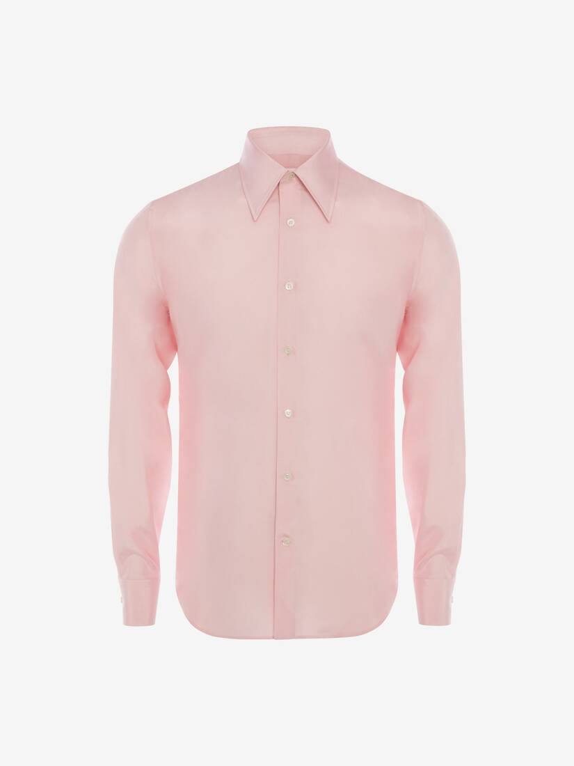 Display a large version of the product image 6 - Pointy Collar Silk Poplin Shirt