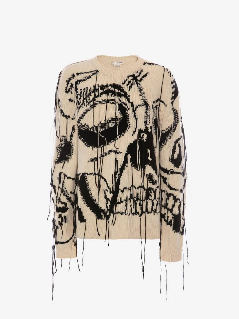 Display a large version of the product image 1 - Exploded Skull Intarsia Cashmere Jumper