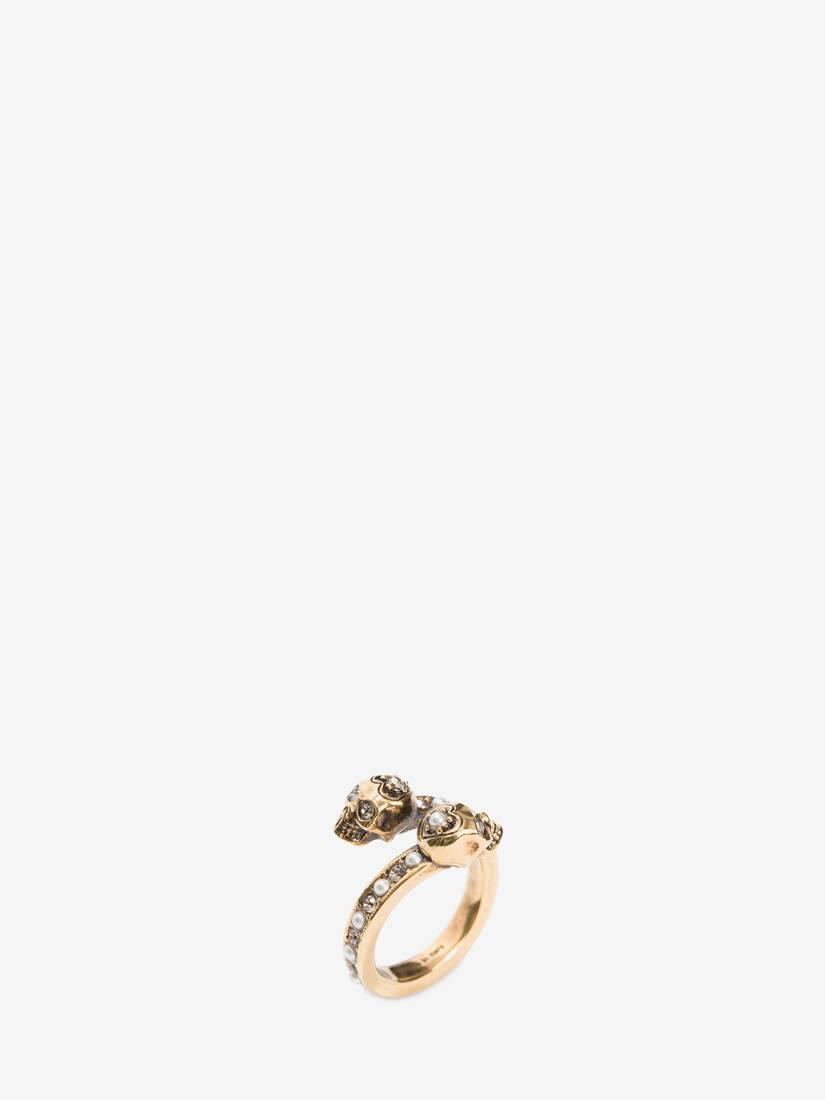 大きな製品イメージを表示する 2 - Wrap-Around Skull Ring