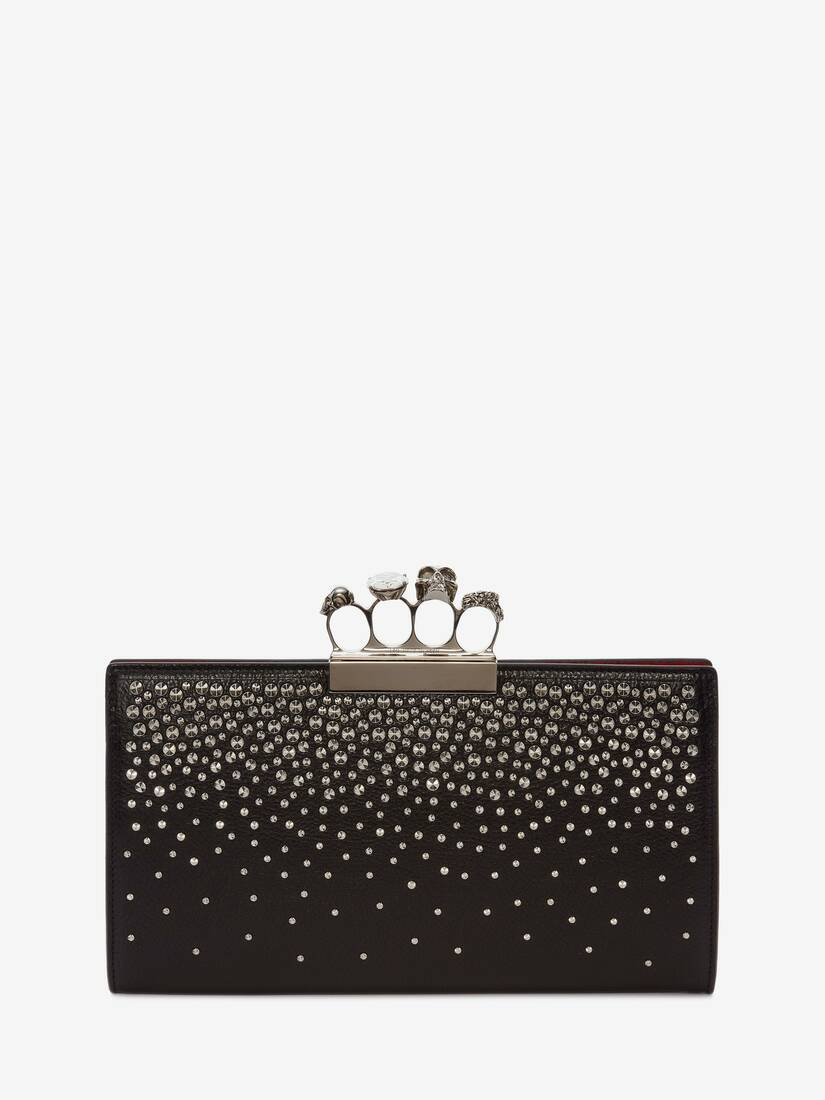 Display a large version of the product image 1 - Skull Four-Ring Flat Pouch