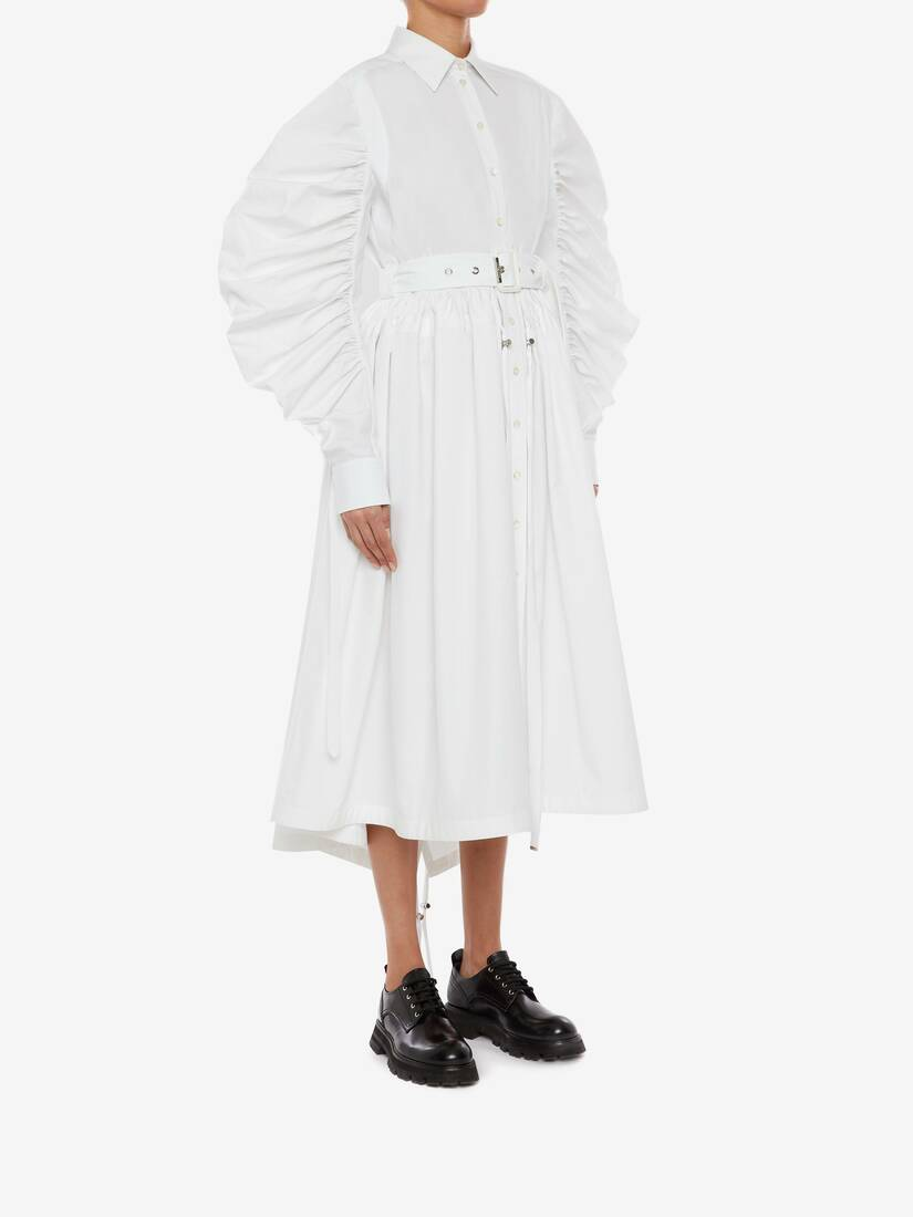 Cotton Poplin Parka Shirt Dress