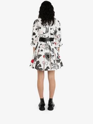Papercut Trapeze Mini Dress