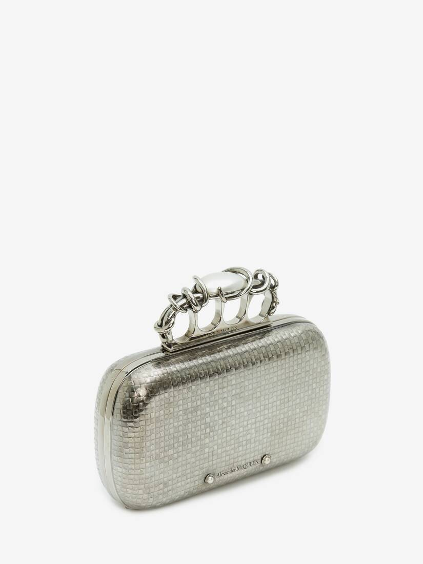 Display a large version of the product image 2 - Woven Four-Ring Box Clutch