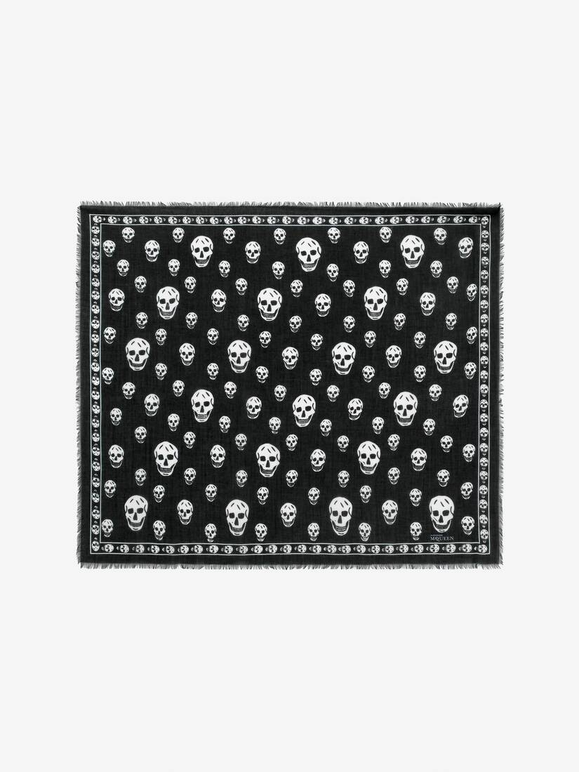 Display a large version of the product image 1 - CLASSIC SKULL CASHMERE SCARF