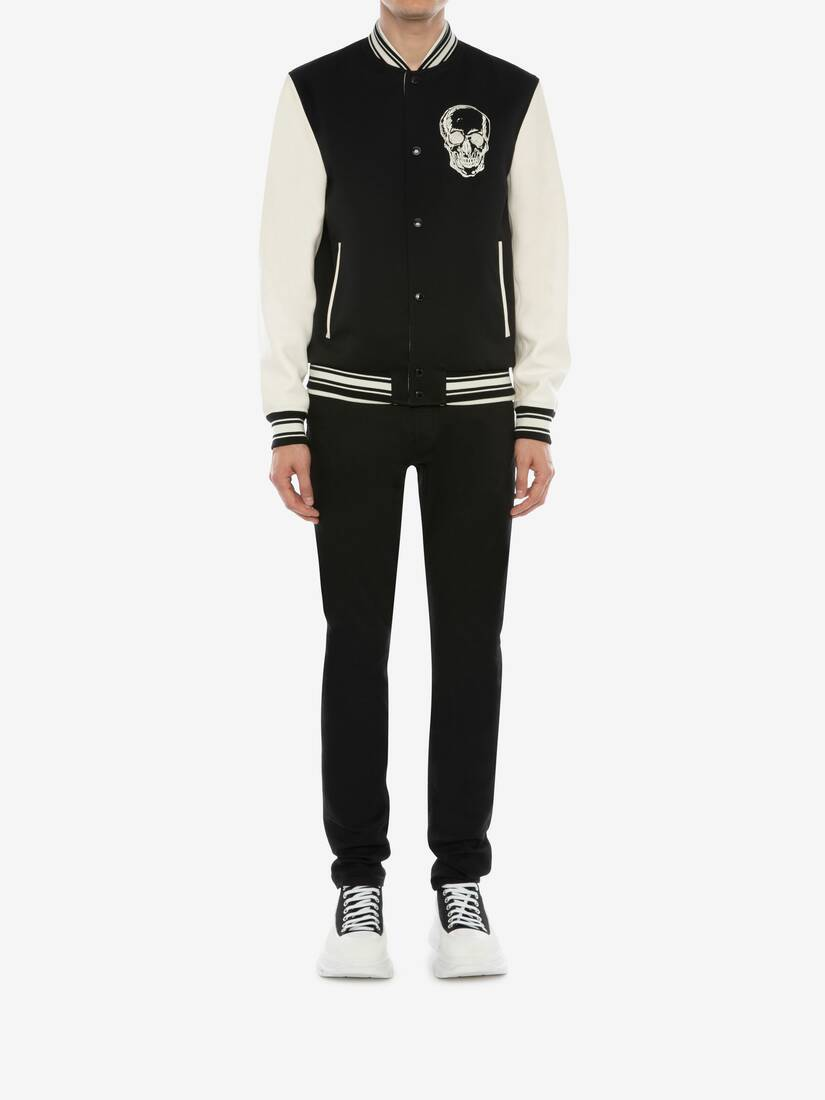 Display a large version of the product image 2 - Embroidered Skull Bomber Jacket