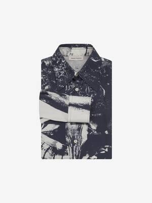 Camicia con stampa trompe-l'œil
