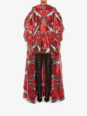 Love Heart Taffeta Jacquard Poet Sleeve Dress