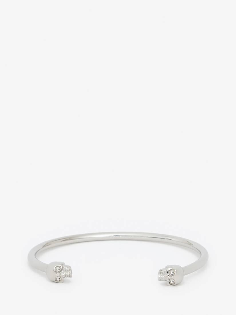大きな製品イメージを表示する 1 - Thin Twin skull bracelet