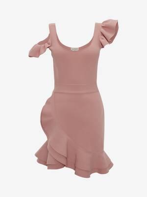 Ruffle Knit Mini Dress