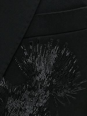 Jet Thistle Embroidered Tuxedo Jacket