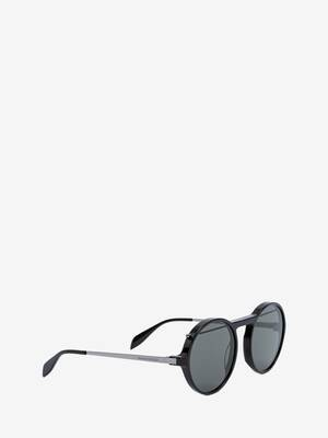 Piercing Round Acetate Sunglasses