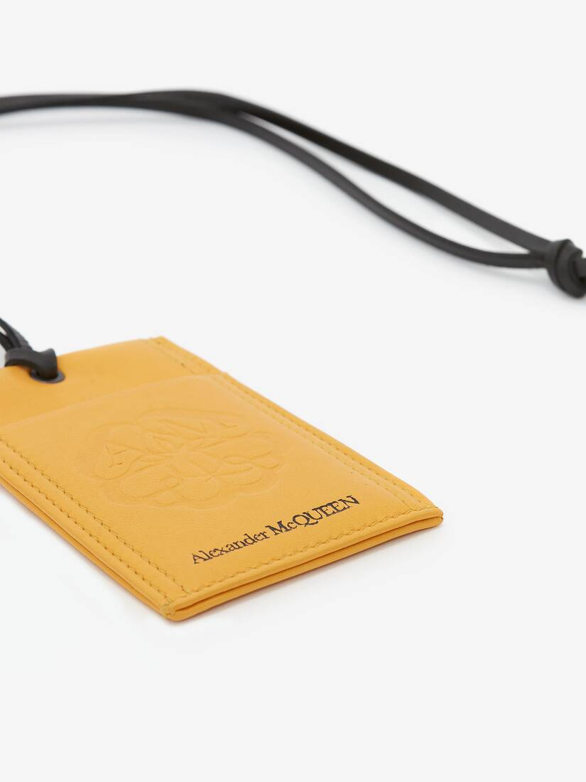 McQueen Seal Logo Card Holder with Strap