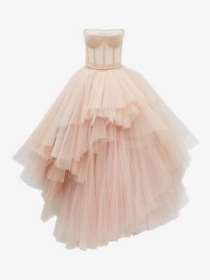 ビスチェ チュール ドレス