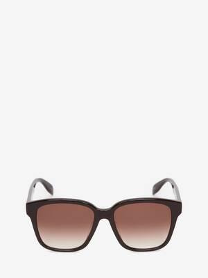 Rechteckige Sonnenbrille mit McQueen-Graffiti-Motiv