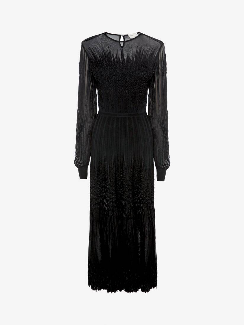 Display a large version of the product image 1 - Sheer knit Midi Dress