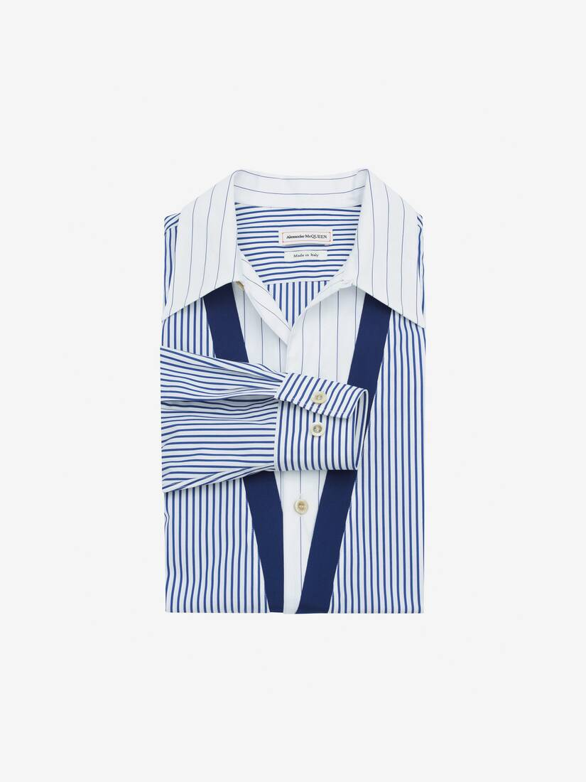 Display a large version of the product image 1 - Trompe-l'œil Stripe Shirt