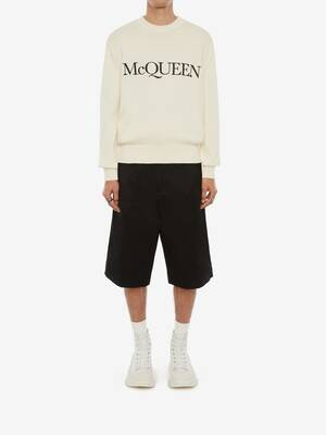 McQueen Embroidered Crew Neck Jumper