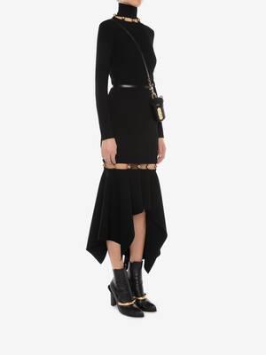 Metallic Sphere Knitted Skirt