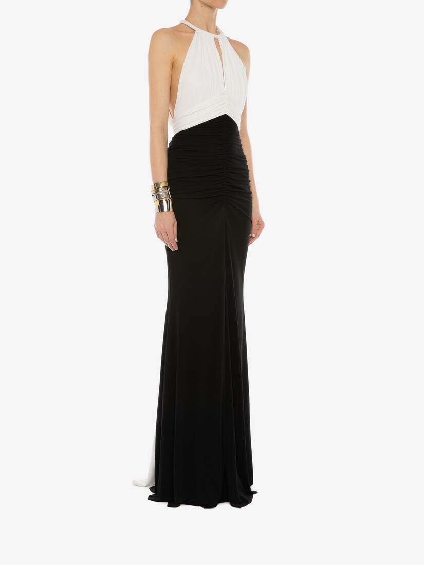 Display a large version of the product image 3 - Halter neck Evening Dress