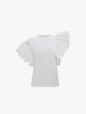 Ruffle Jersey T-Shirt