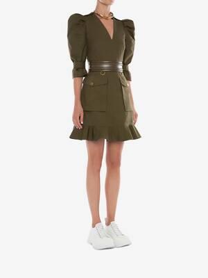 Military Mini Dress