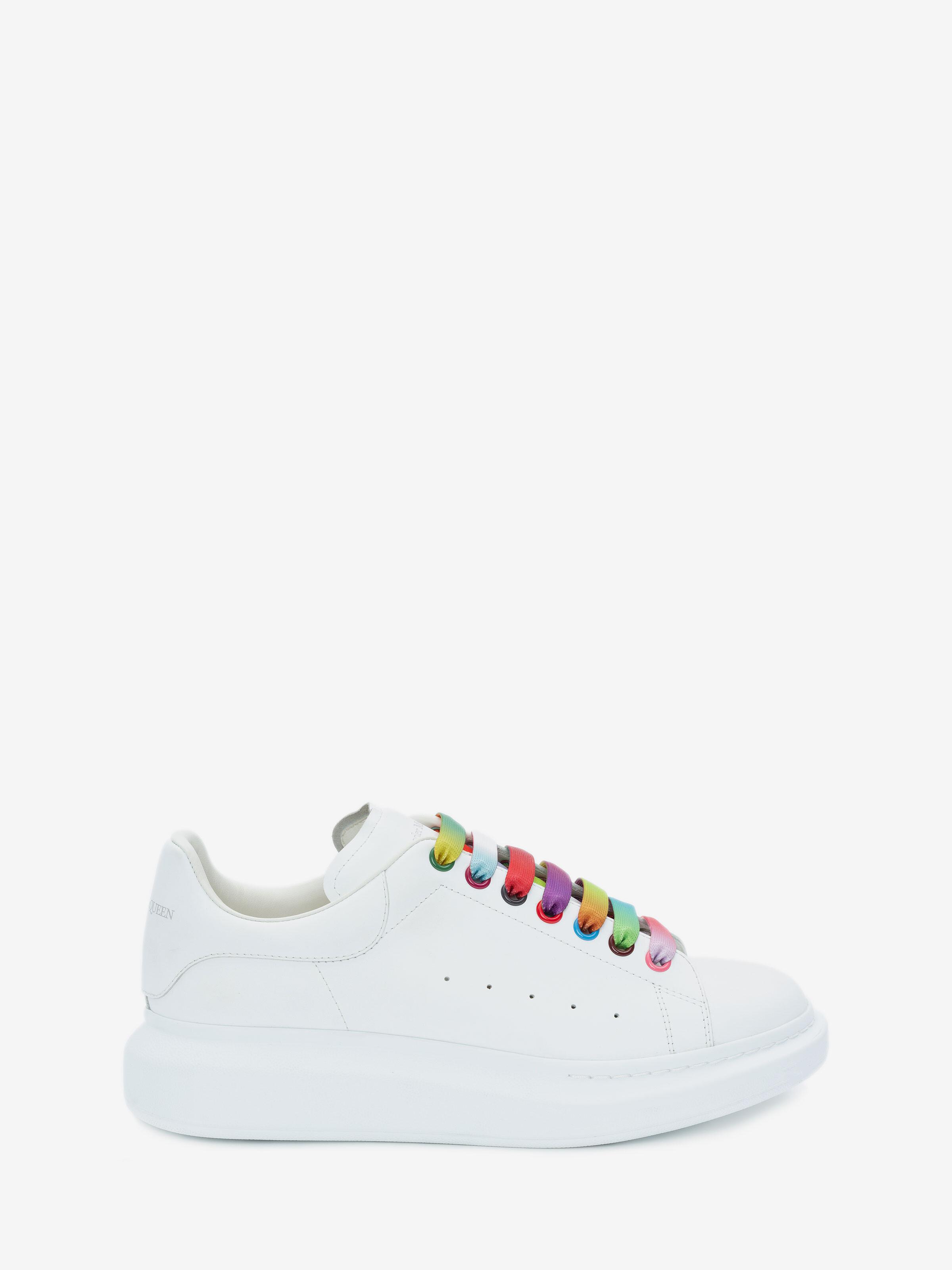 Oversized Sneaker in White/Multicolor
