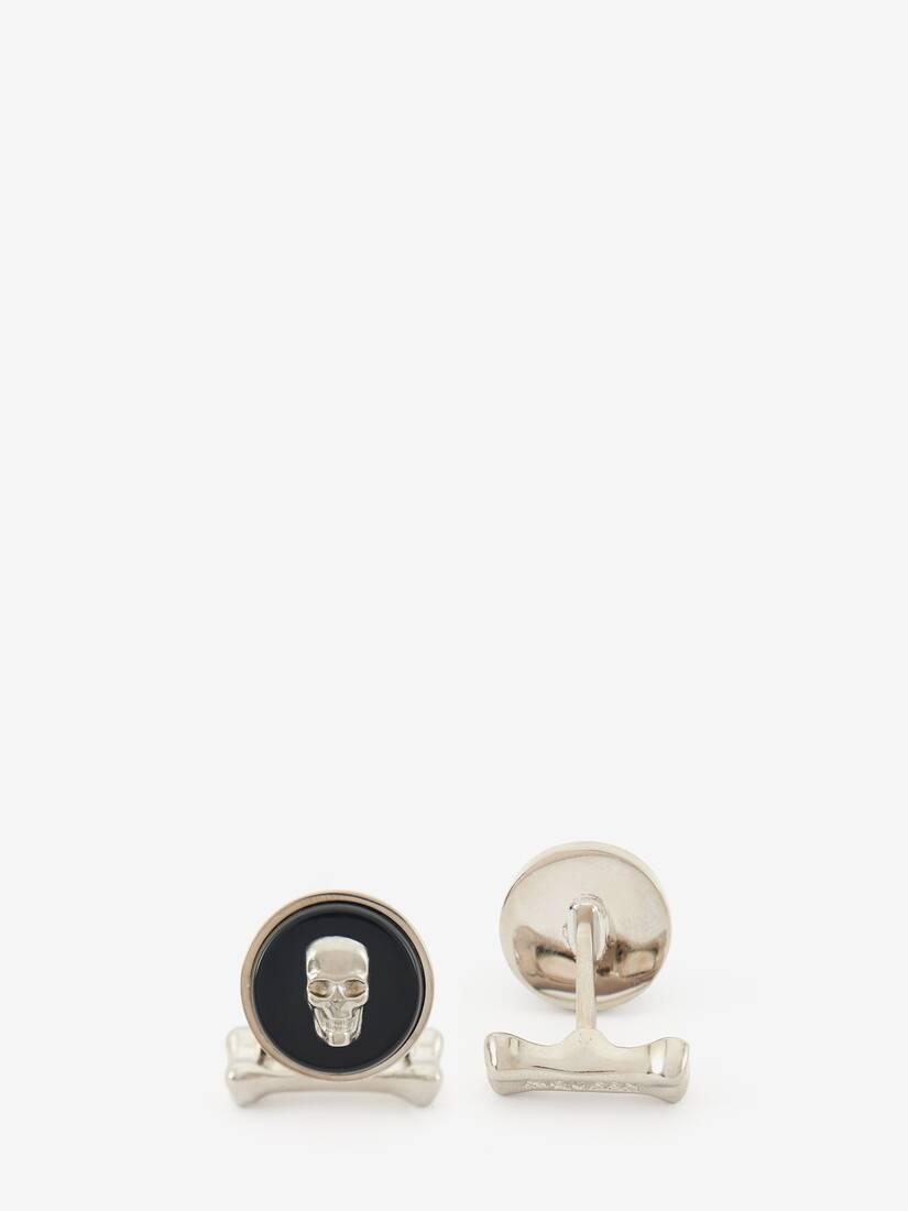 Afficher une grande image du produit 2 - Boutons de manchette avec pierre Skull