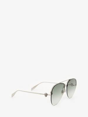 Skull Jewelled Pilot Sunglasses