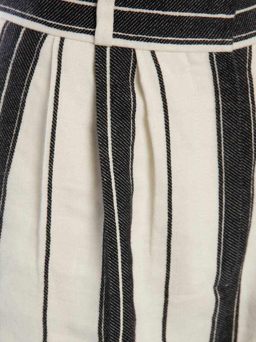 Display a large version of the product image 5 - Linen Stripe Peg Trouser