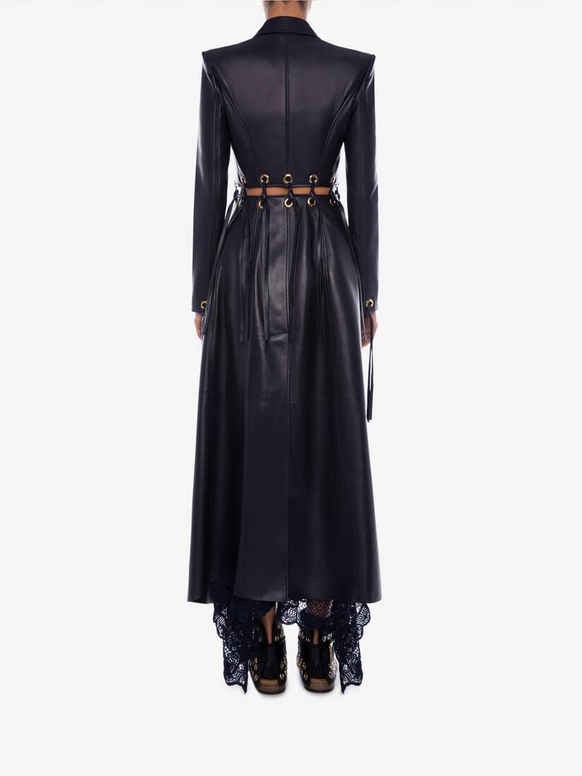 Display a large version of the product image 4 - Eyelet Leather Coat