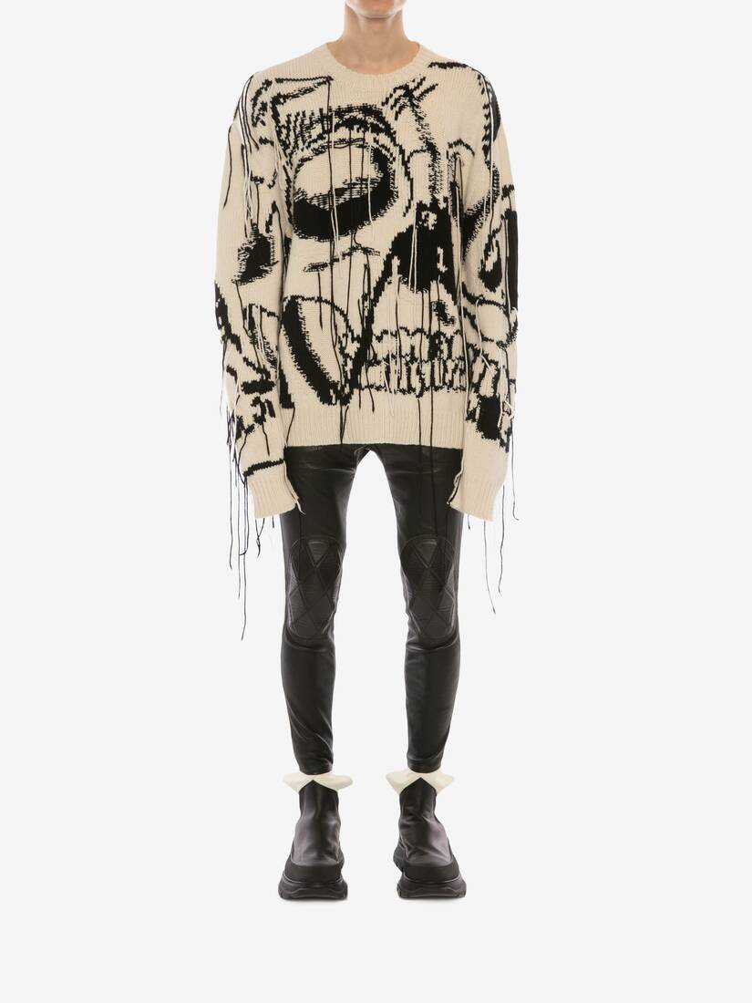 Display a large version of the product image 2 - Exploded Skull Intarsia Cashmere Jumper