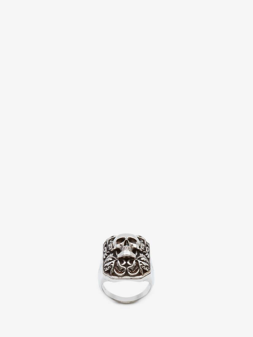 Display a large version of the product image 1 - Engraved Skull Ring