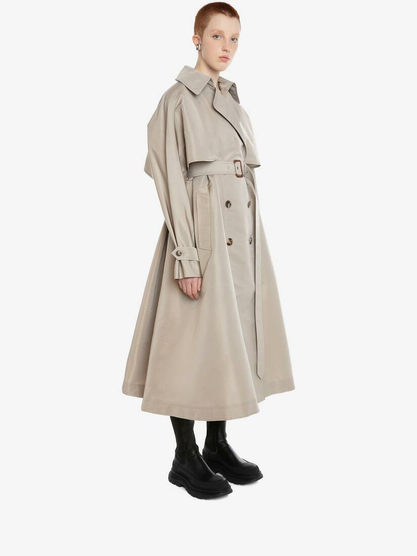 Trench-coat à manches tombantes