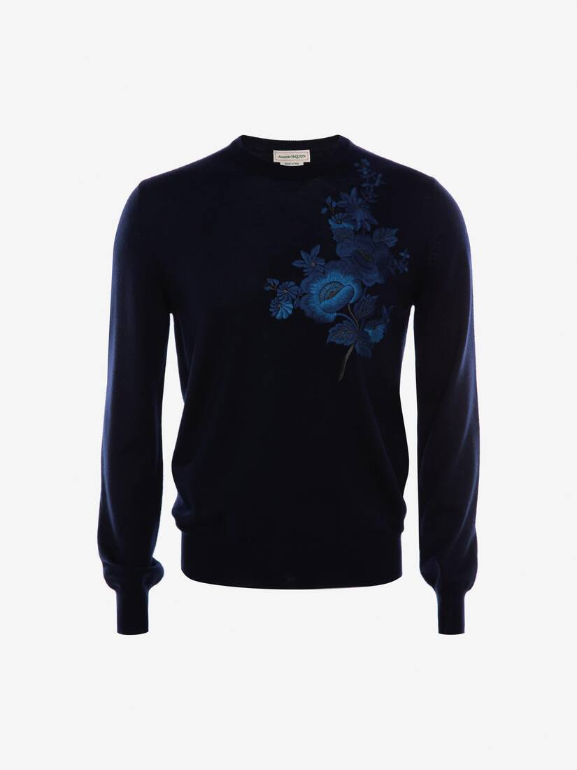 Display a large version of the product image 1 - Japanese Camellia Crew Neck Jumper