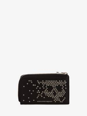 Studded Zip Coin Card Holder
