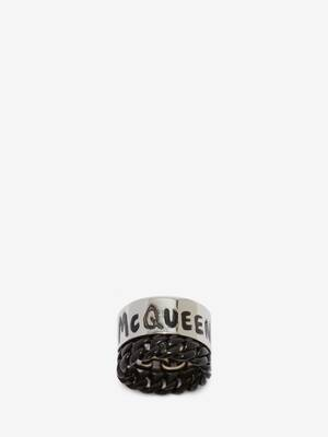 McQueen Graffiti Ring
