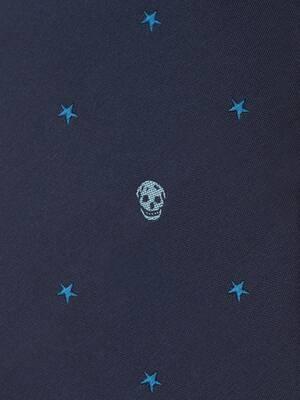 Cravate Skull et étoiles