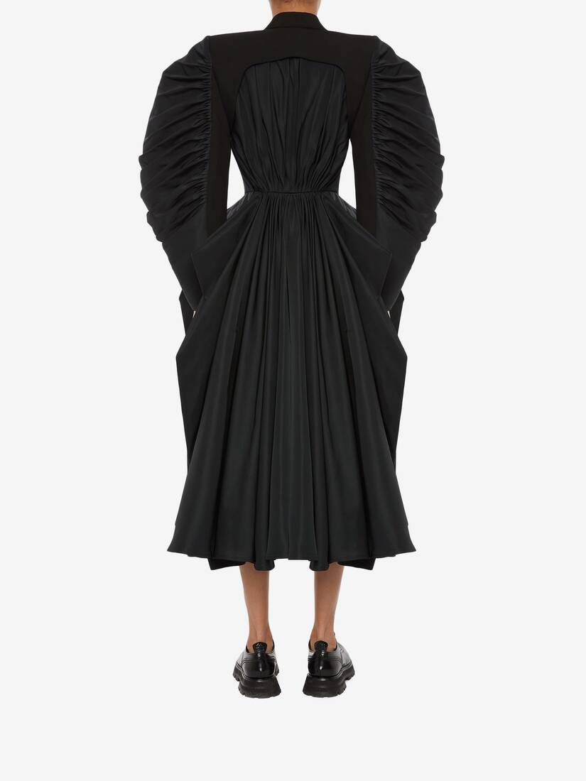 Spliced Drape Coat