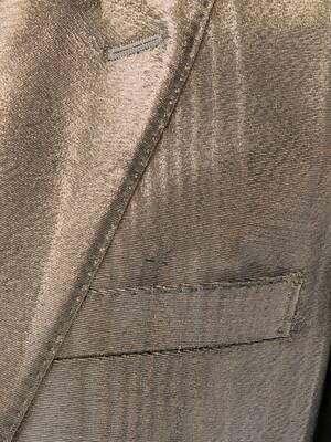 메탈릭 무아레 턱시도 재킷