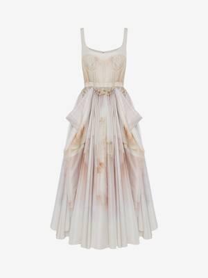 Tulle Toile Bow Drape Dress