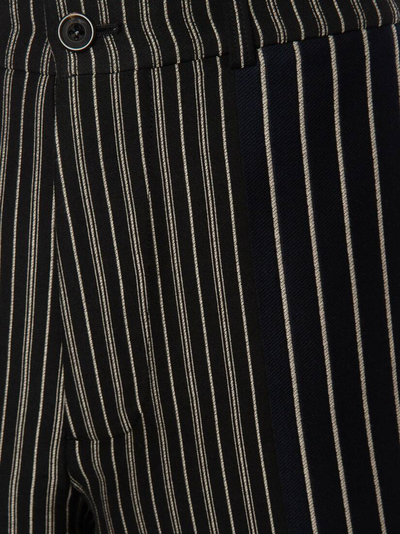 Display a large version of the product image 5 - Patchwork Pinstripe Shorts