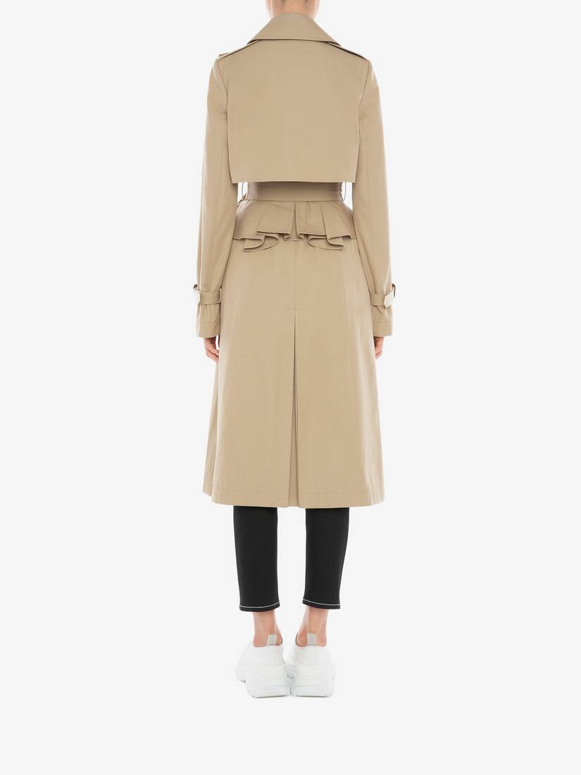 Display a large version of the product image 4 - Trenchcoat mit Schößchen