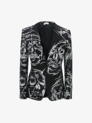 Painted Skull Jacquard Jacket