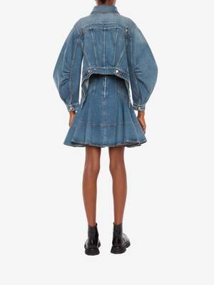 Denim Kickback Mini Skirt